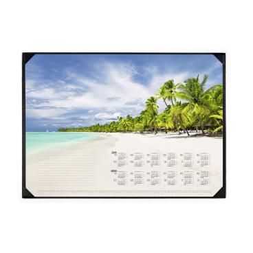 DURABLE Schreibunterlage inkl. Kalenderblock, 590 x 420 mm Motiv: Tropical Beach