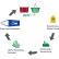 Gies ecoline Push Abfallbehälter mit Schwingdeckel Fassungsvermögen: 24 Liter, grau/senf