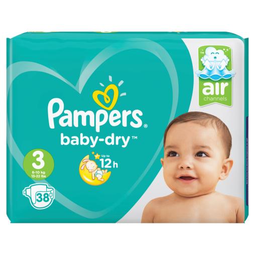 Pampers Baby Dry Midi Windeln 6-10 kg, Größe 3