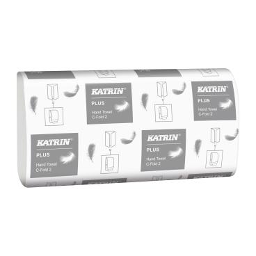 KATRIN Plus C-Fold 2 Papierhandtuch, 24 x 33 cm 1 Karton =  24 Packungen à 125 Tücher