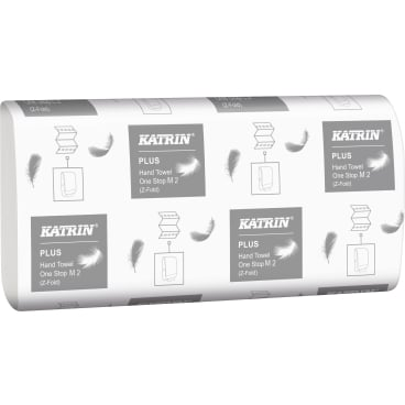 KATRIN Plus One Stop M 2, Interfold Papierhandtuch, 23,5 x 25 cm