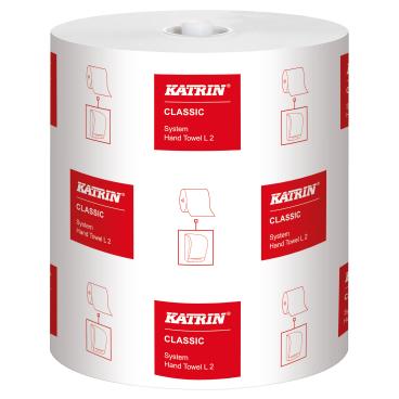 KATRIN Classic System L2 Papierhandtuchrolle, 2-lagig, weiß