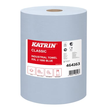 KATRIN Putzpapier-Rolle, 38x38 cm, 2-lagig, blau