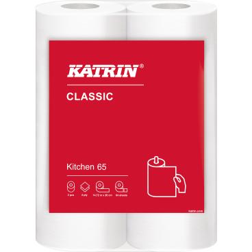 KATRIN Classic Kitchen 65 Küchenrolle 1 Paket = 14 x 2 Rollen = 28 Rollen à 64 Blatt