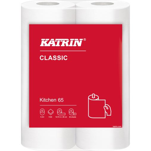 KATRIN Classic Kitchen 65 Küchenrolle, 2-lagig, weiß