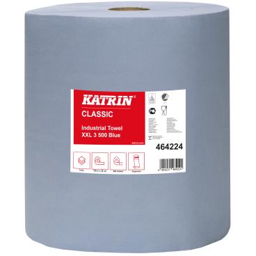KATRIN Putztuchrolle, 38x38 cm, 3-lagig, blau 1 Palette = 20 Pakete = 40 Rollen