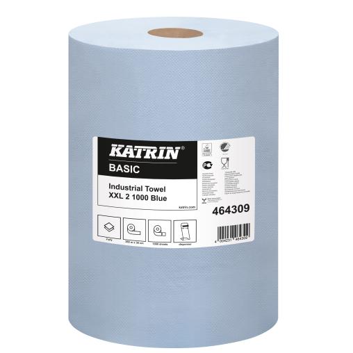 KATRIN Basic XXL blue Tissue-Wischtuch-Putzrolle
