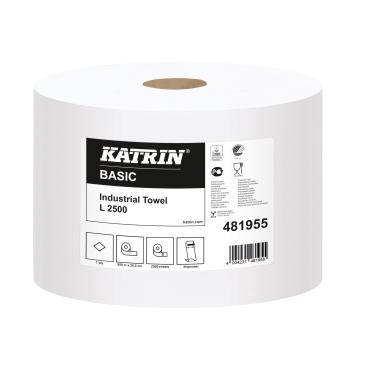 KATRIN Basic L 2500  Industrietuch, naturweiß