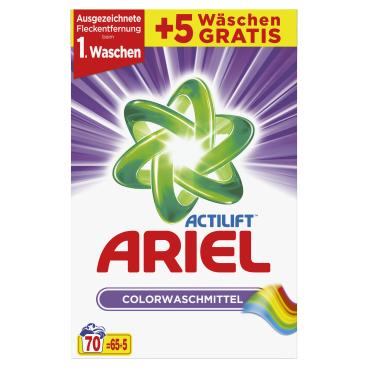 Ariel Actilift Colorwaschmittel 4,55 kg - Paket für ca. 70 Waschladungen