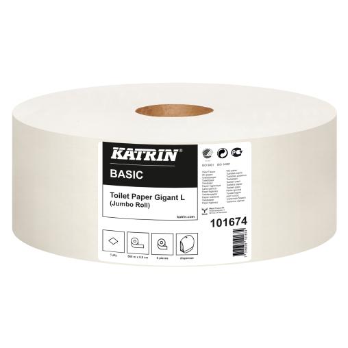 KATRIN Toilettenpapier Basic Großrolle 30