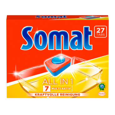 Somat 7 Tabs All in 1 Spülmaschinentabs 1 Packung = 27 Tabs