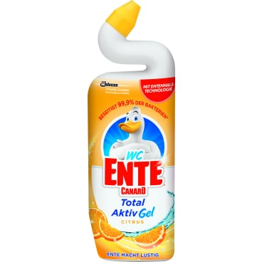 WC-Ente Total Aktiv Gel WC-Reiniger, 0,75 Liter
