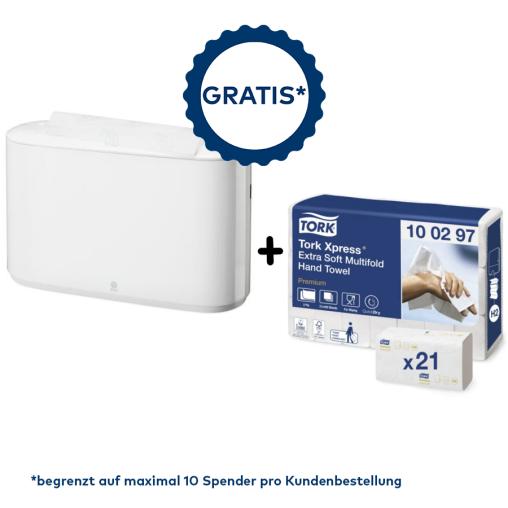 Tork Sonderaktion* Xpress® Tischhandtuchspender+Papierhandtücher