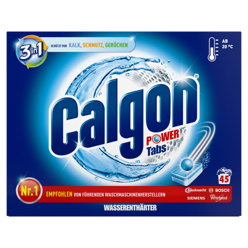 Calgon 3 in 1 Waschmaschinen-Wasserenthärter Power-Tabs