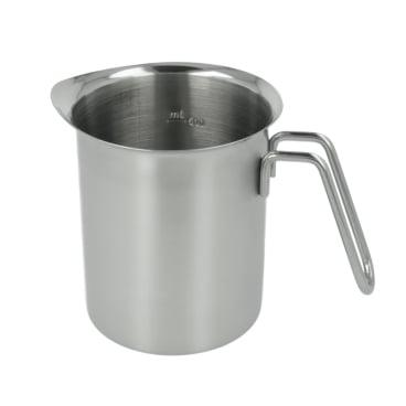 Metaltex Milchkrug mit Skala, Inox-Edelstahl