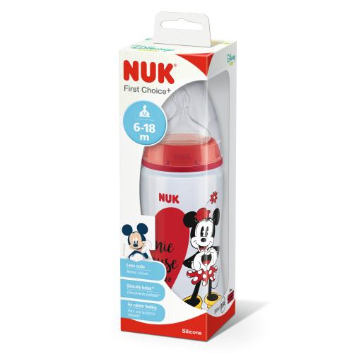 NUK Disney Mickey First Choice+ Babyflasche aus Polypropylen