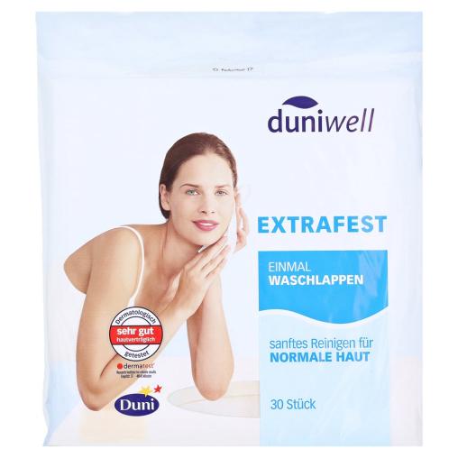 Duniwell Einweg-Waschlappen, trocken