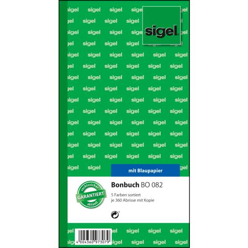 Sigel Bonbuch, 5 x 360 Abrisse