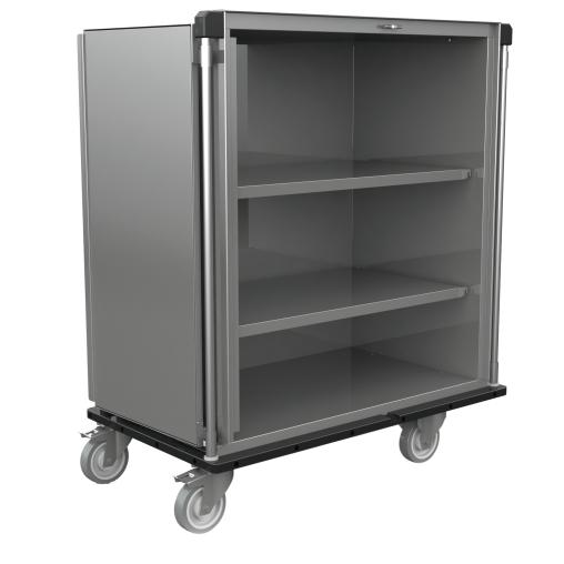 novocal Sterilgut-Transportwagen mit festen Edelstahl-Fachböden