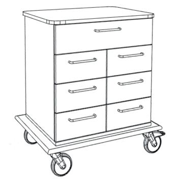 novocal PAW6000 Pflege- und Arbeitswagen Maße(BxTxH): 77,6 x 57 x 86,2 cm, PAW6700