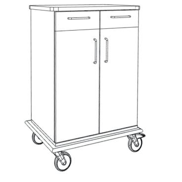 novocal PAW7000 Pflege- und Arbeitswagen Maße(BxTxH): 83 x 57 x 108,5 cm, PAW7202