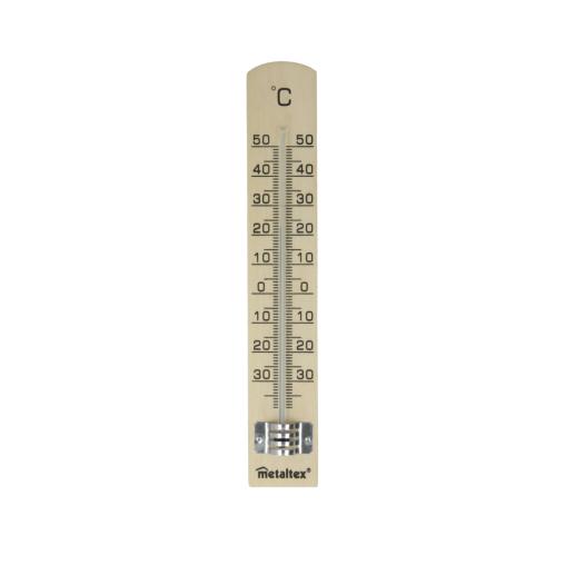 Metaltex Innenthermometer aus Buchenholz