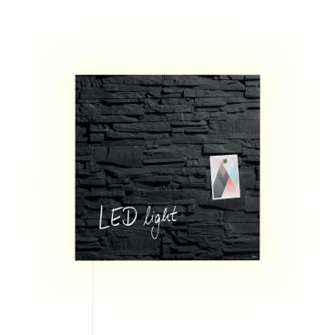 Sigel artverum® Glas-Magnetboard LED light, 48 x 48 cm