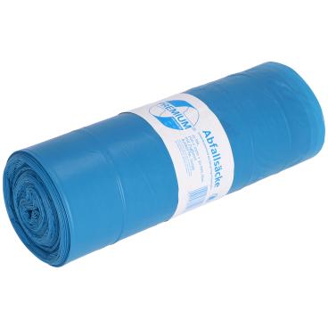 DEISS Premium Zugbandsäcke, blau, 120 Liter