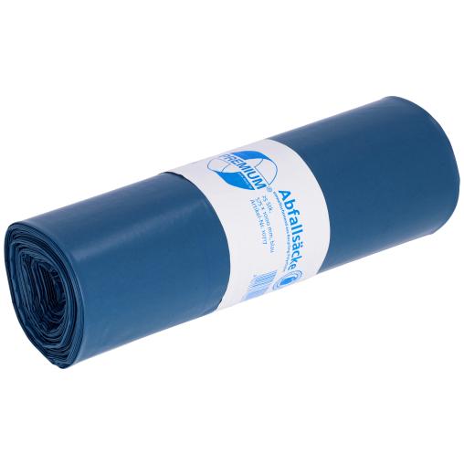 DEISS PREMIUM Abfallsack 70 Liter, blau, Typ 100