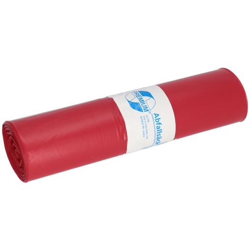 DEISS PREMIUM Abfallsack 120 Liter, rot, Typ 100
