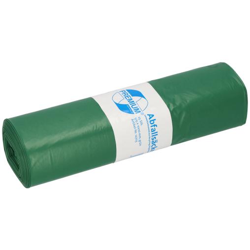 DEISS PREMIUM Abfallsack 70 Liter, grün, Typ 60