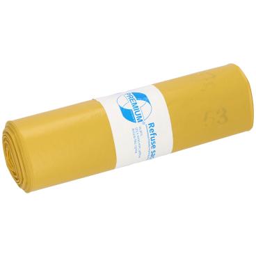 DEISS PREMIUM Abfallsack 70 Liter, gelb, Typ 60