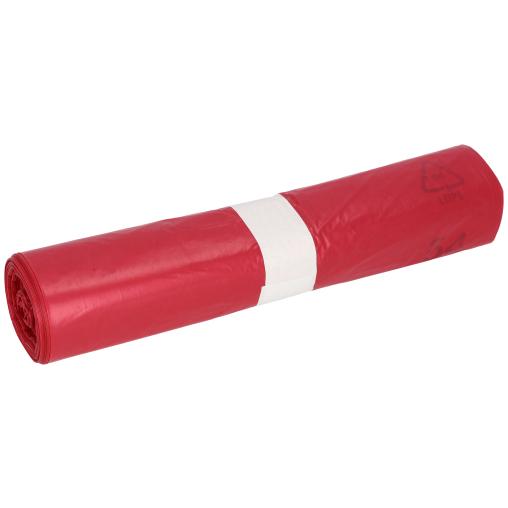 DEISS LDPE Abfallsäcke, rot, 120 Liter