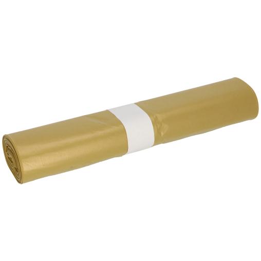 DEISS LDPE Abfallsäcke, gelb, 120 Liter