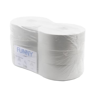 Jumbo-Toilettenpapier, Tissue, 2-lagig, hellgrau 1 Paket = 6 Rollen