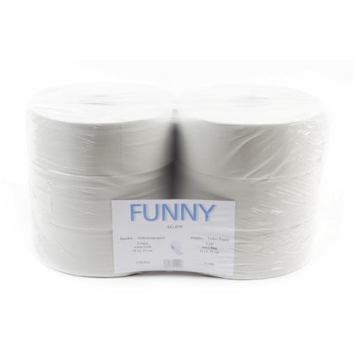Jumbo-Toilettenpapier, Tissue, 2-lagig, hellgrau