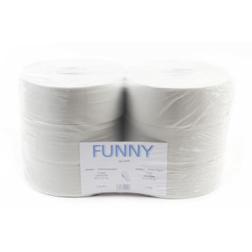 Jumbo-Toilettenpapier, Tissue, 2-lagig, hellgrau ½ Palette = 25 Pakete