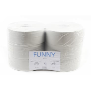 Jumbo-Toilettenpapier, Tissue, 2-lagig, hellgrau 1 Palette = 48 Pakete