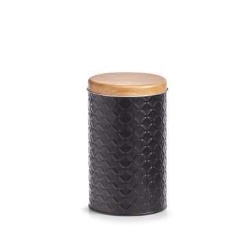 Zeller Scandi Dose aus Metall, schwarz