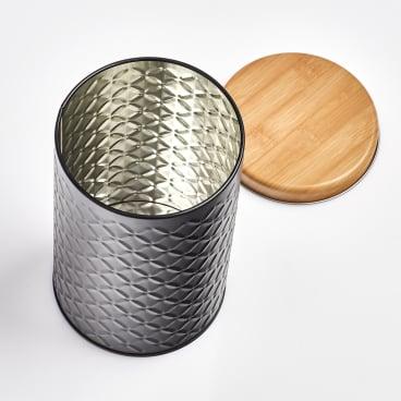 Zeller Scandi Dose aus Metall, schwarz Maße: Ø 10 x 18 cm