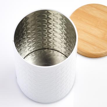Zeller Scandi Dose aus Metall, weiß Maße: Ø 10 x 18 cm