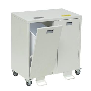 Wertstoffschrank Serie 3000 2-fach, Breite 880 x Tiefe 435 x Höhe 845 mm