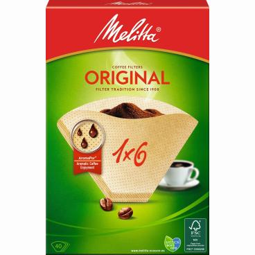 Melitta® Filtertüten 1x6/40 1 Packung = 40 Stück