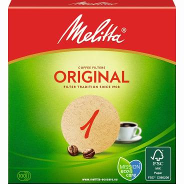 Melitta® Rundfilterpapier 1 Ø 94 mm, braun
