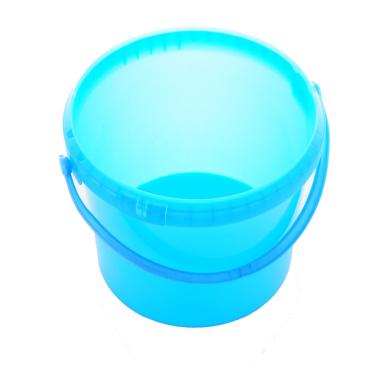Kunststoffeimer lebensmittelecht Fassungsvermögen: 5 l, Farbe: blau, ohne Deckel