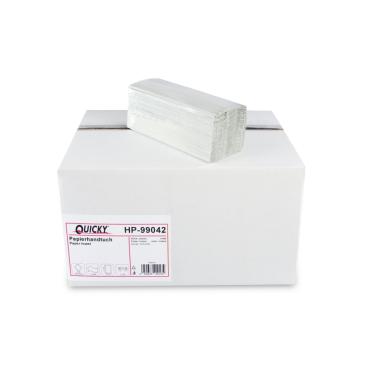 Papierhandtücher, 24,5 x 31 cm, 1-lagig, hellgrau 1 Palette = 36 Karton