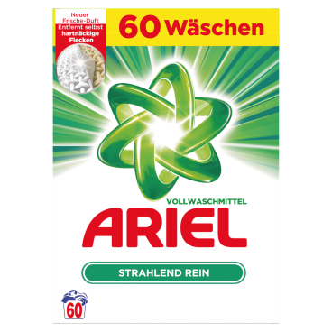 Ariel Pulver Regulär Vollwaschmittel 3,9 kg Tragepackung = ca. 60 Waschladungen