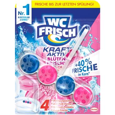 WC Frisch Kraft-Aktiv Duftspüler Blüten-Frische, 1 Packung = 10 Stück