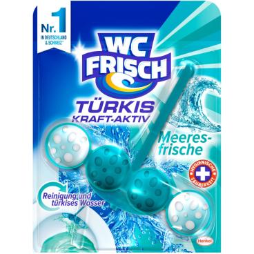 WC Frisch Kraft-Aktiv WC-Farbspüler 1 Packung = 10 Stück, Türkisspüler, Meeresfrische
