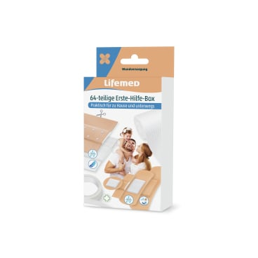 Lifemed® Erste-Hilfe-Box-Set, 64-teilig